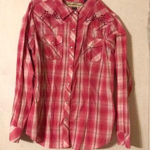 Size XL Bit & Bridle western style shirt